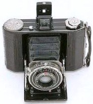 Amelia Earhart's Kodak 620-Duo series I (rescued from fire) showing Art Deco top