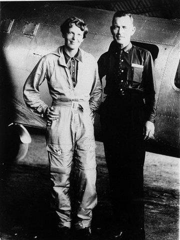 Amelia and  Her Navigator, Fred Noonan