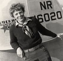Amelia Earhart liked the publicity